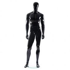 Манекен мужской черный глянец безликий