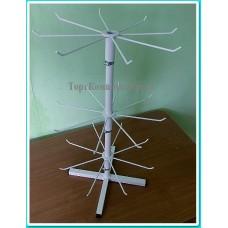Настольная стойка для бижутерии, брелков и другое 24 крючка