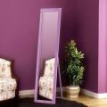 Зеркало в полный рост.  Деревянный каркас. Цвет розовый. Высота 160 см, ширина 55 см.
